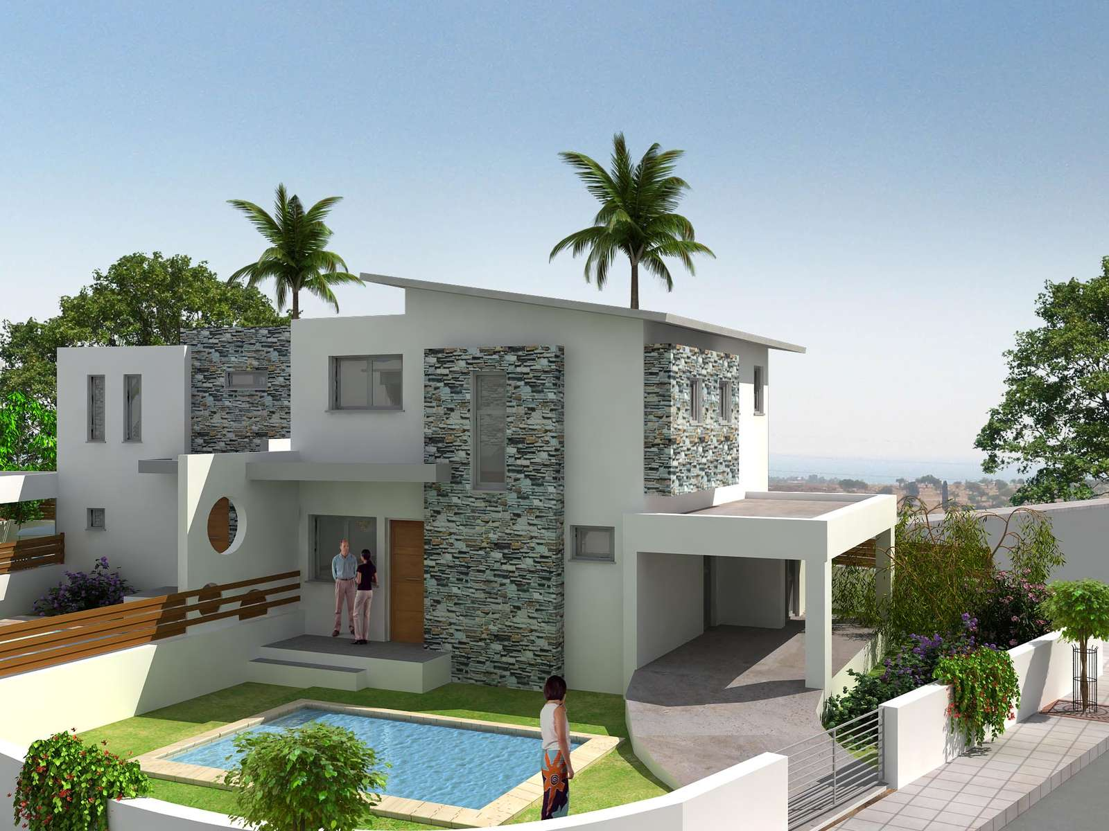 For sale villa 2 bedrooms larnaca pyla carisa aria gardens for Modern house details